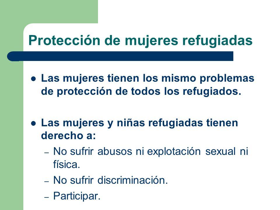 Protección de mujeres refugiadas