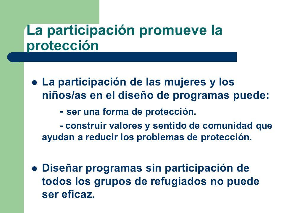 La participación promueve la protección