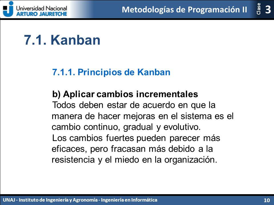 7.1. Kanban 7.1.1. Principios de Kanban