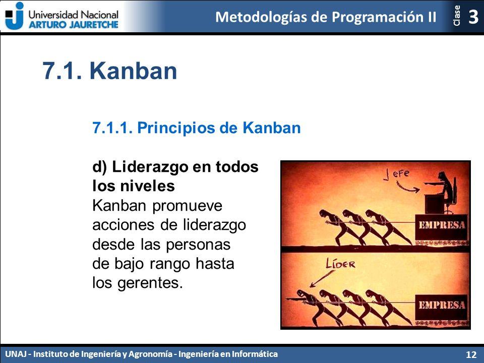7.1. Kanban 7.1.1. Principios de Kanban d) Liderazgo en todos