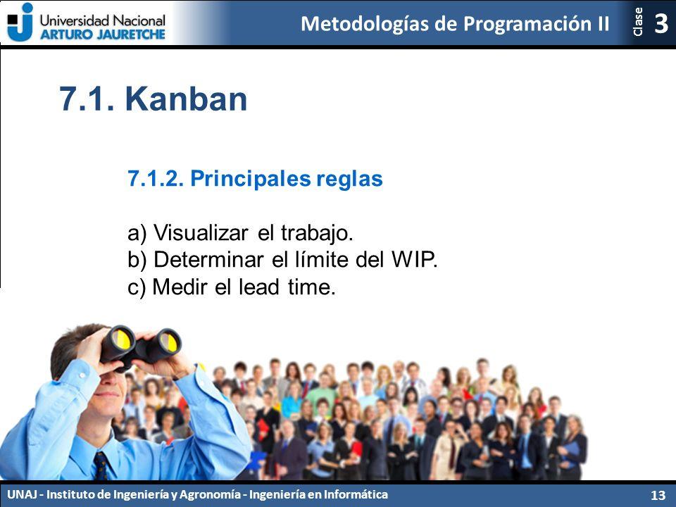 7.1. Kanban 7.1.2. Principales reglas a) Visualizar el trabajo.