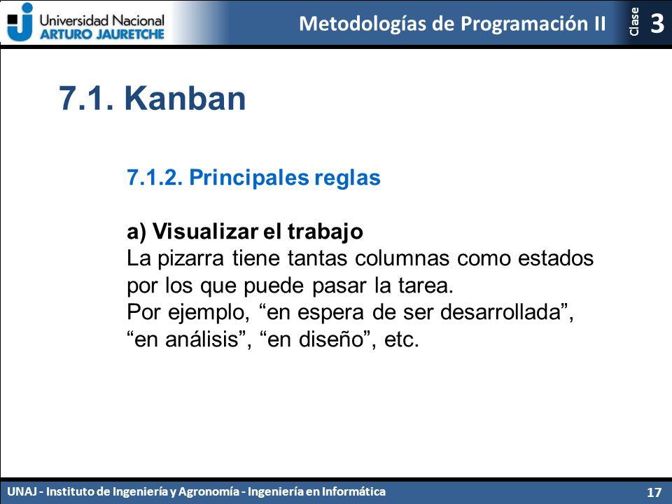 7.1. Kanban 7.1.2. Principales reglas a) Visualizar el trabajo