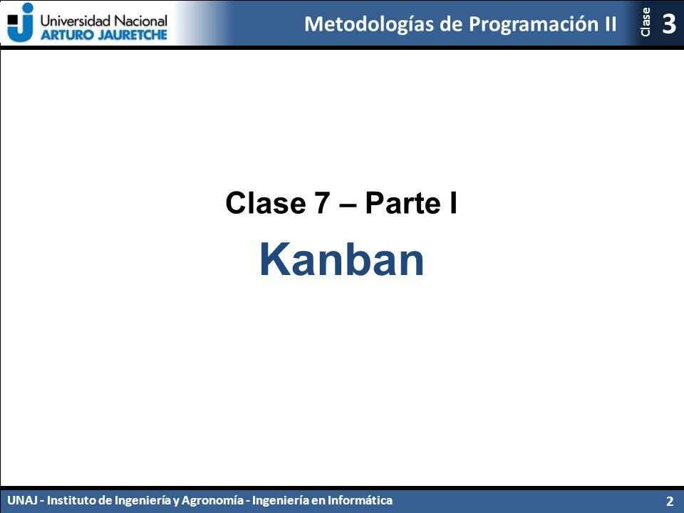 Clase 7 – Parte I Kanban