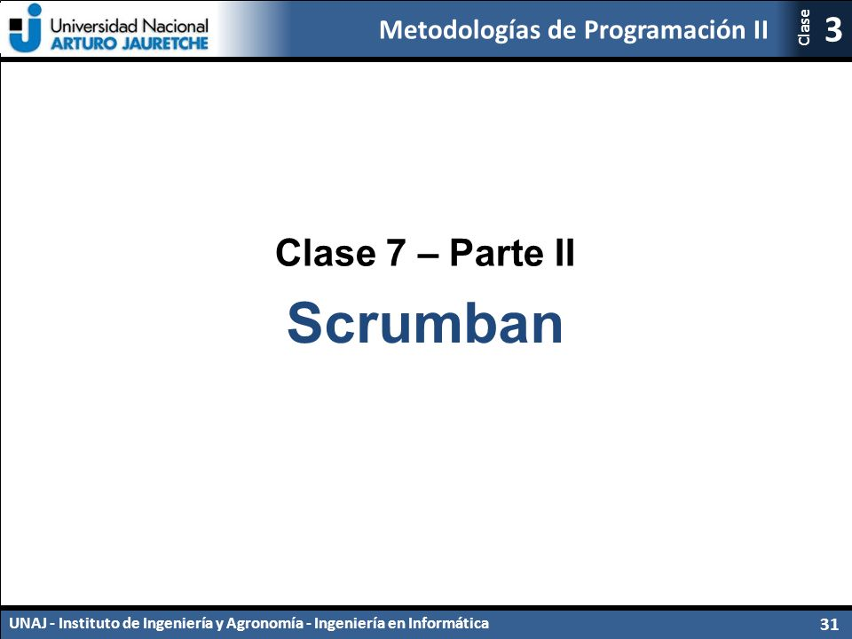Clase 7 – Parte II Scrumban