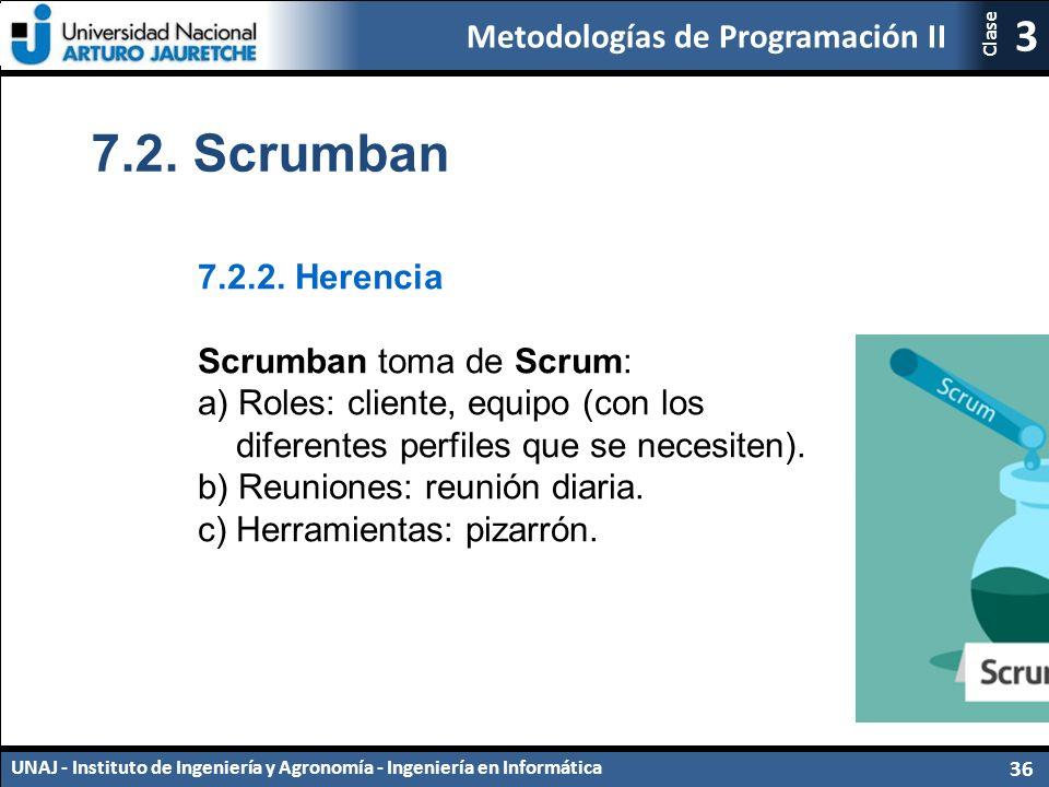 7.2. Scrumban 7.2.2. Herencia Scrumban toma de Scrum: