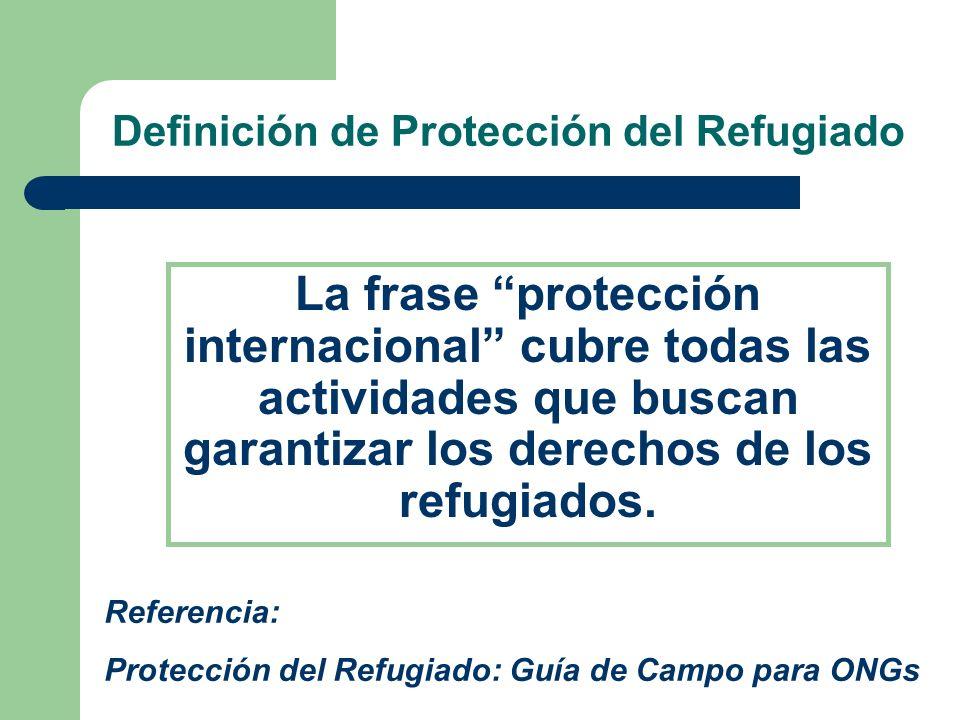 Definición de Protección del Refugiado