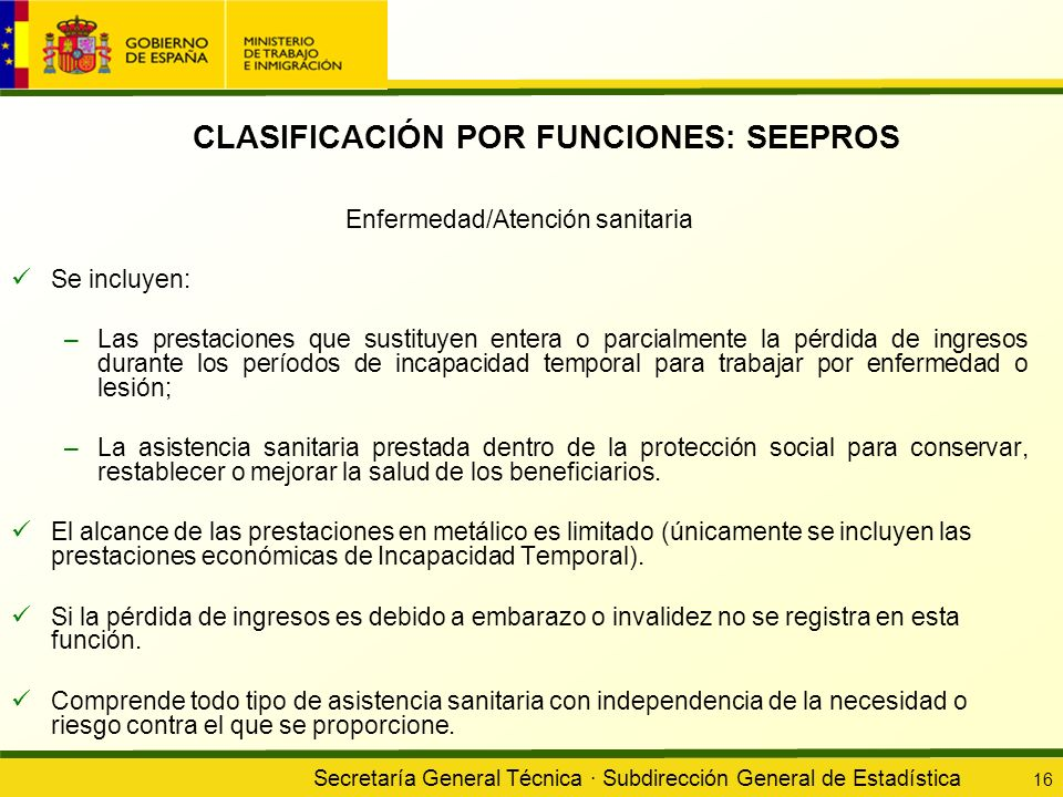 CLASIFICACIÓN POR FUNCIONES: SEEPROS