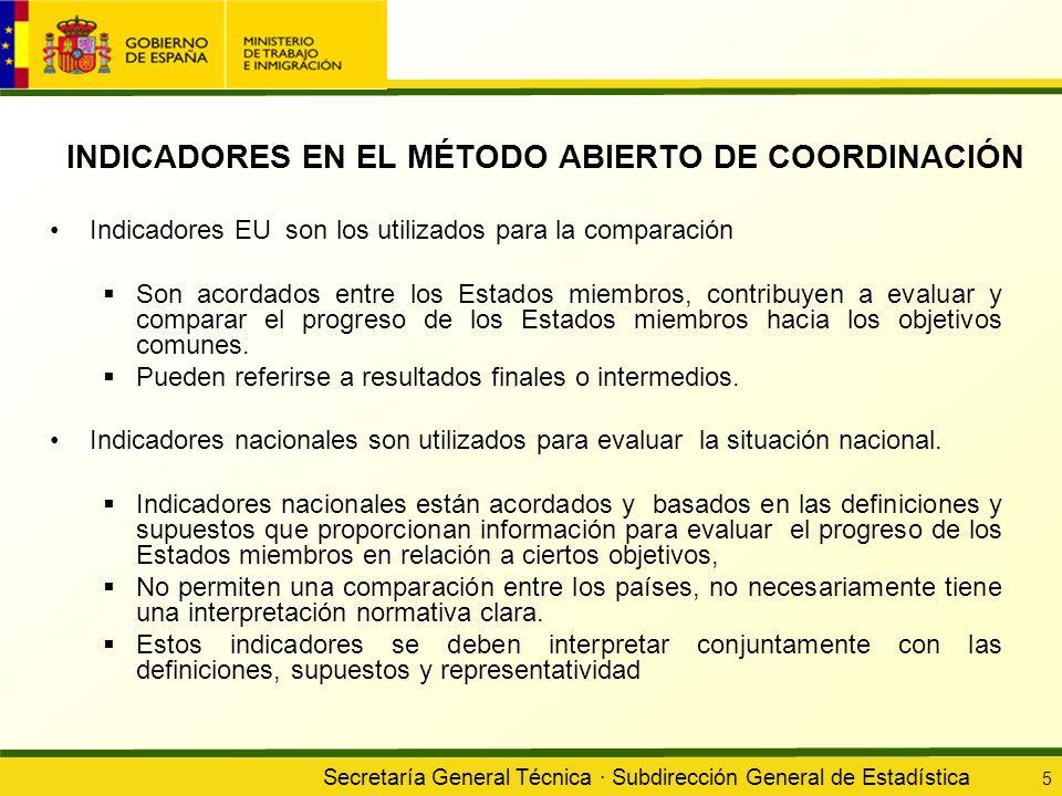 INDICADORES EN EL MÉTODO ABIERTO DE COORDINACIÓN