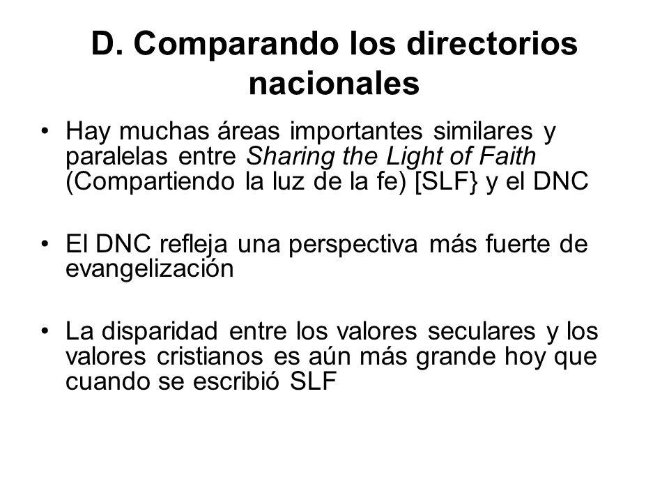 D. Comparando los directorios nacionales