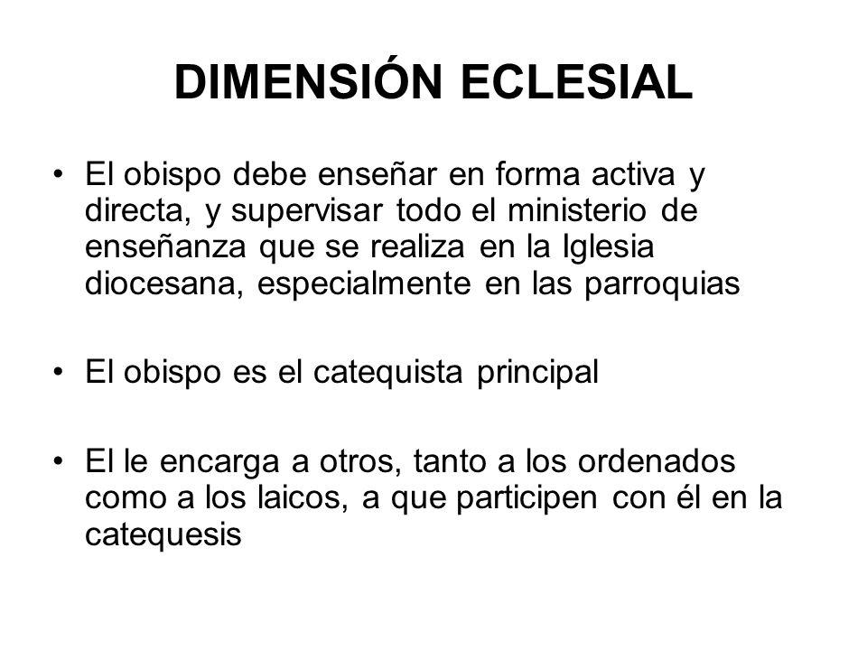 DIMENSIÓN ECLESIAL