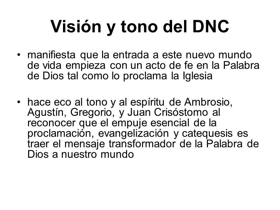 Visión y tono del DNC