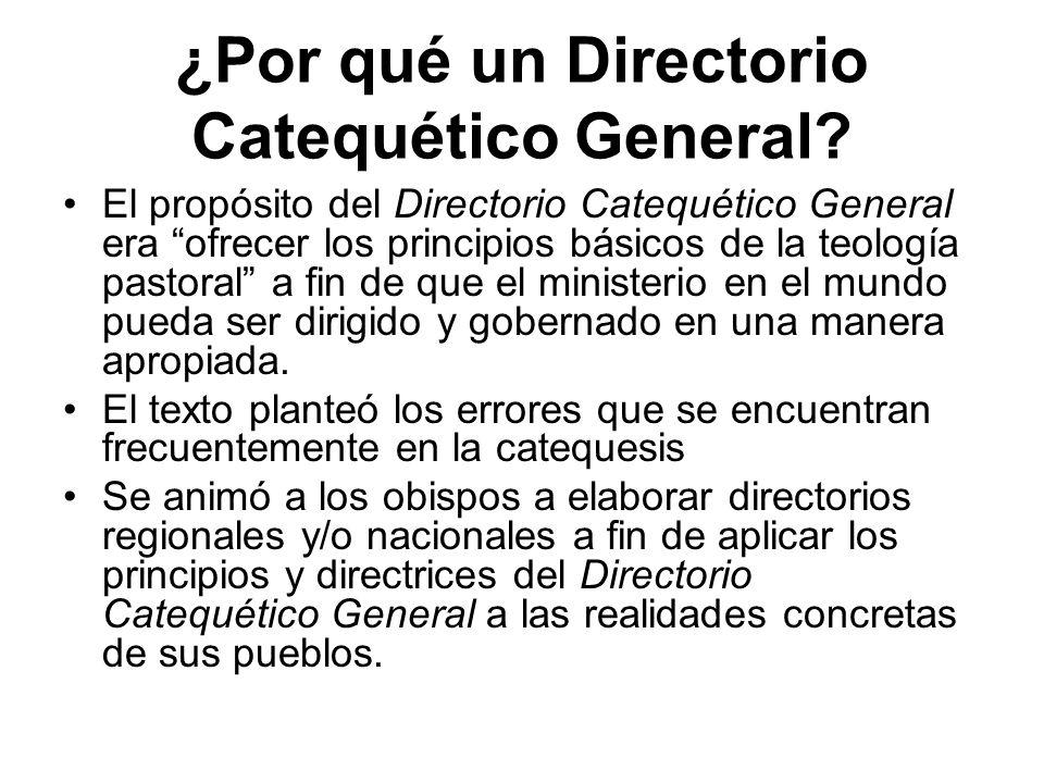 ¿Por qué un Directorio Catequético General