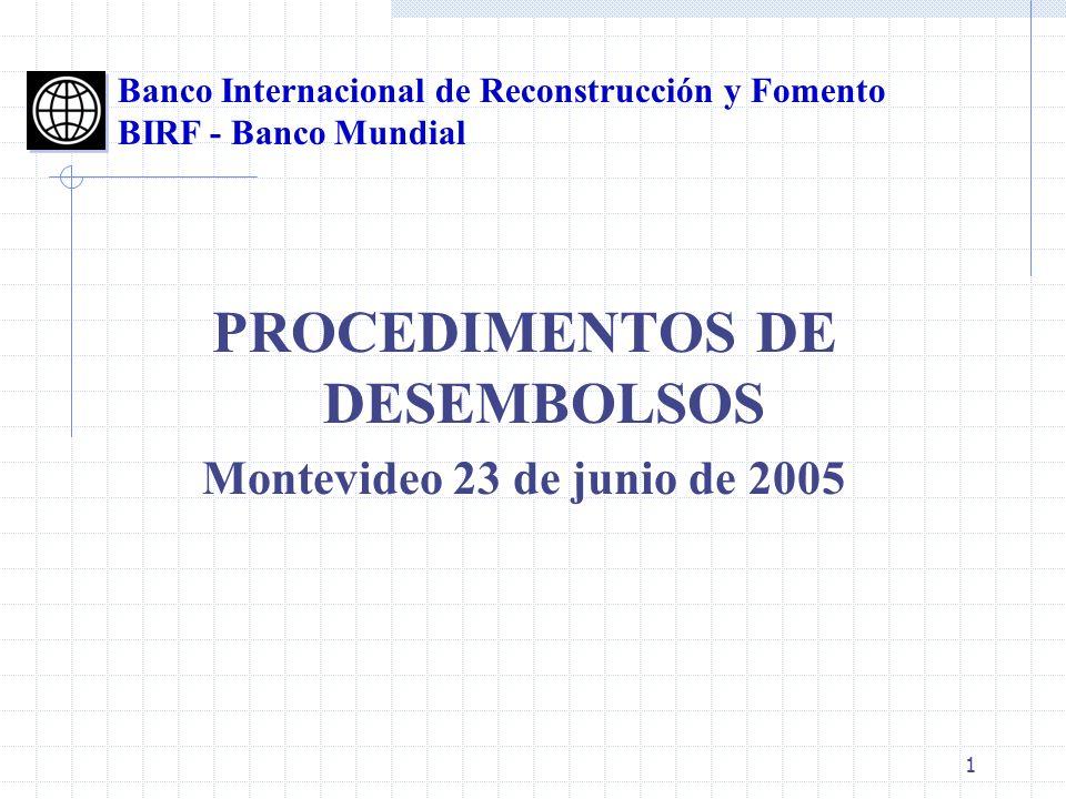 PROCEDIMENTOS DE DESEMBOLSOS