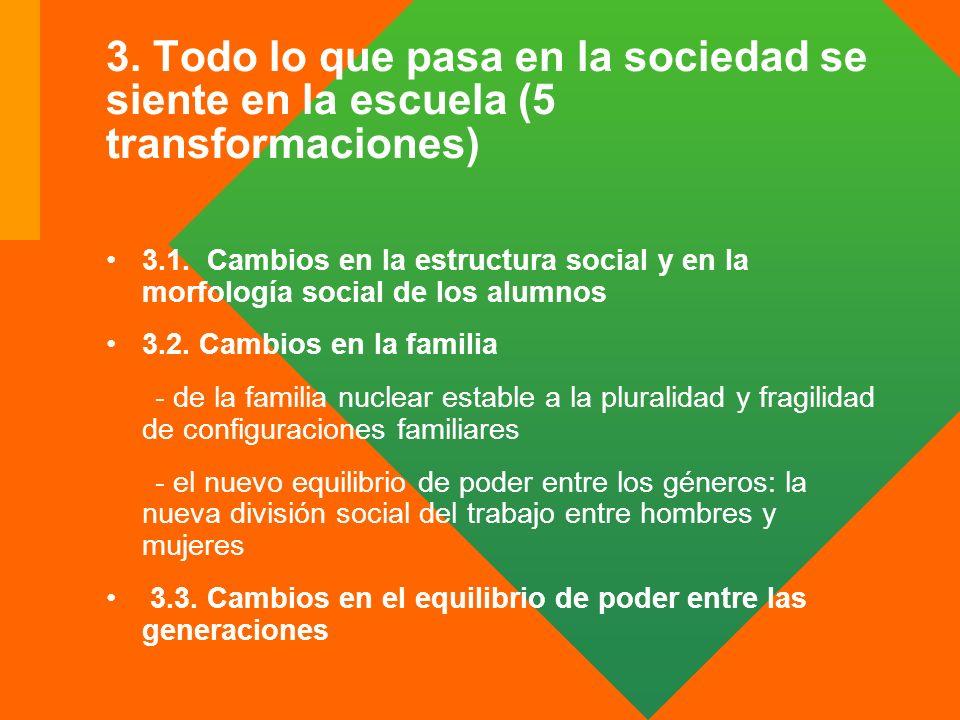 3. Todo lo que pasa en la sociedad se siente en la escuela (5 transformaciones)