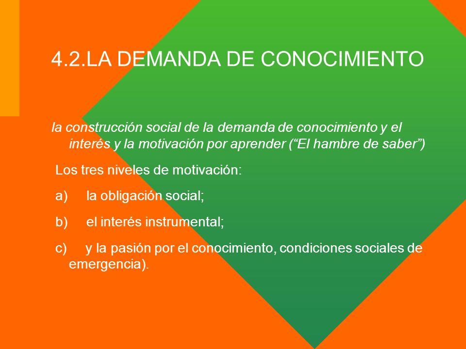 4.2.LA DEMANDA DE CONOCIMIENTO