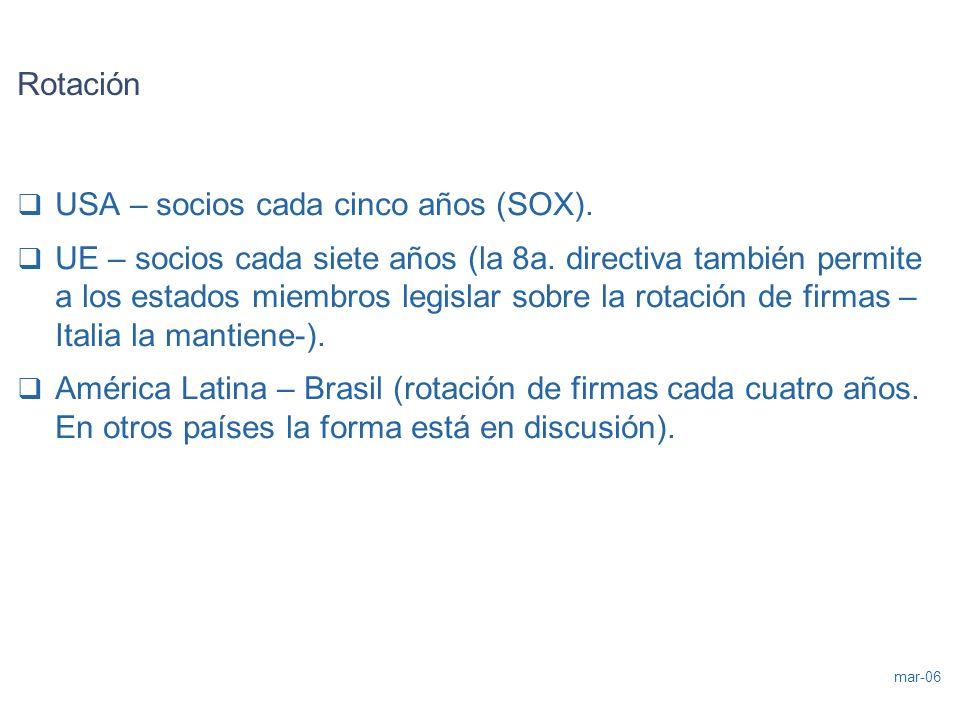 RotaciónUSA – socios cada cinco años (SOX).