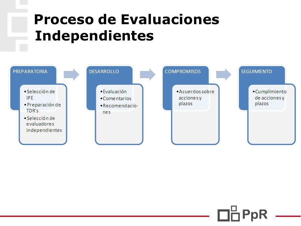 Proceso de Evaluaciones Independientes