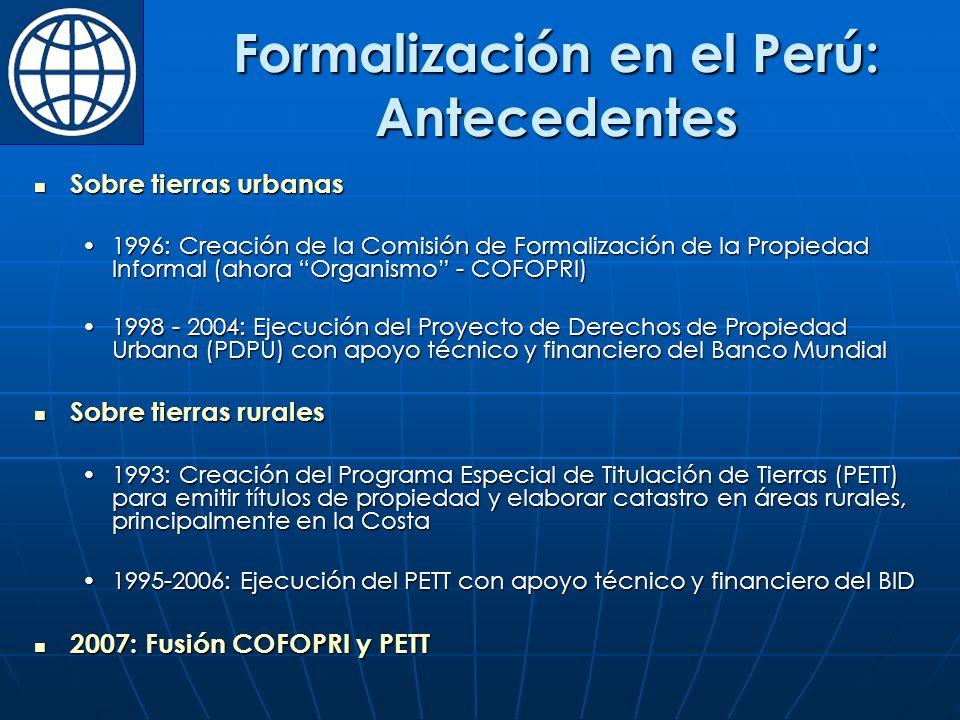 Formalización en el Perú: Antecedentes