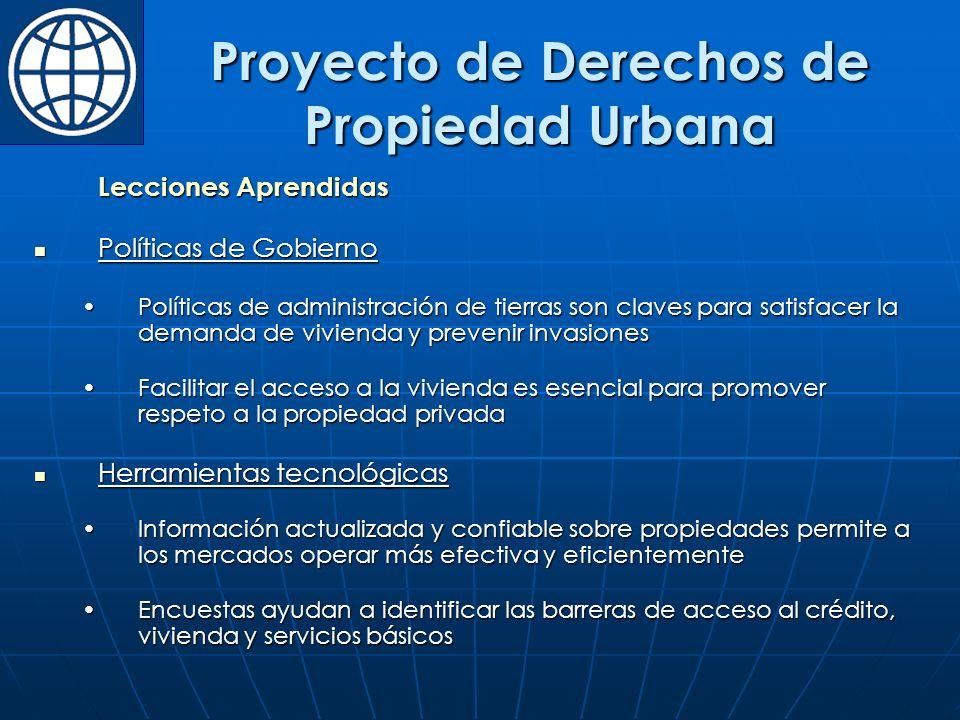 Proyecto de Derechos de Propiedad Urbana