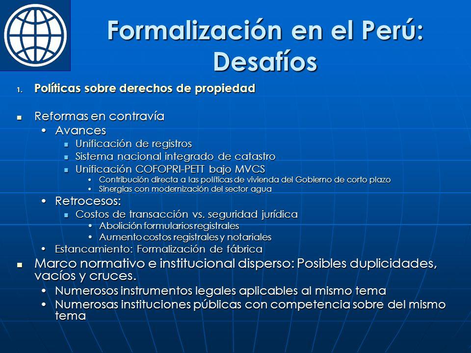 Formalización en el Perú: Desafíos