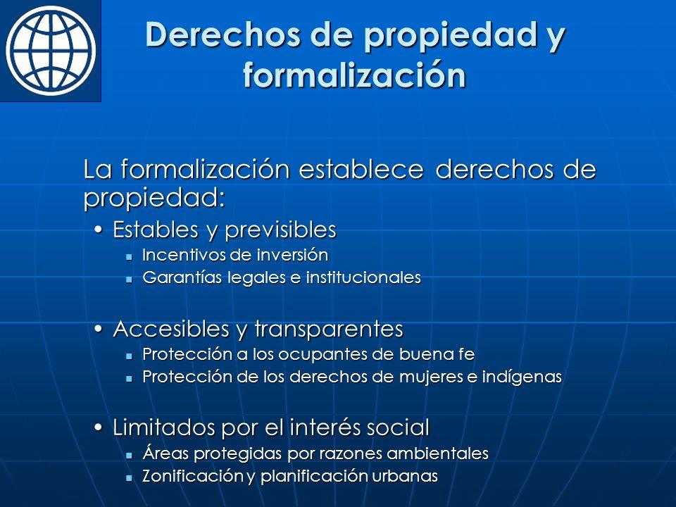 Derechos de propiedad y formalización