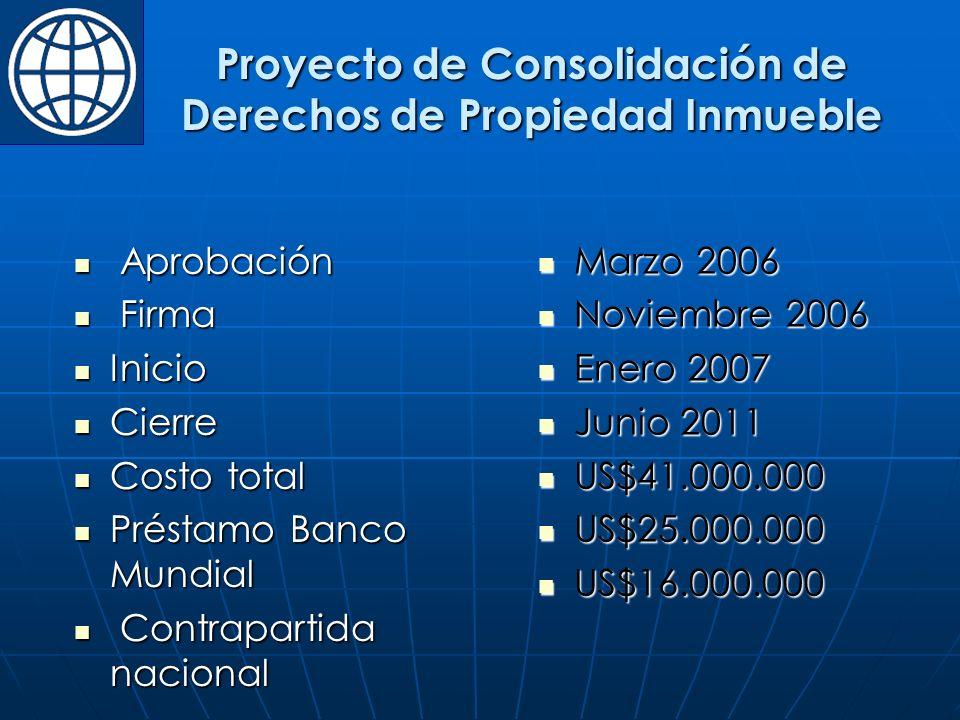 Proyecto de Consolidación de Derechos de Propiedad Inmueble
