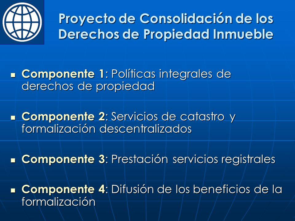 Proyecto de Consolidación de los Derechos de Propiedad Inmueble