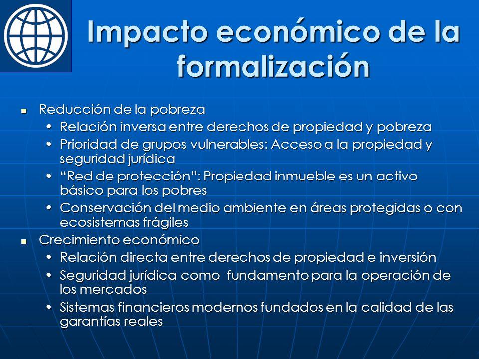 Impacto económico de la formalización