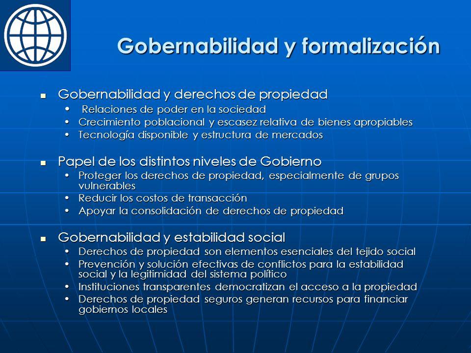 Gobernabilidad y formalización