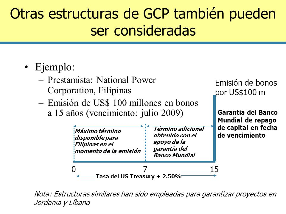 Otras estructuras de GCP también pueden ser consideradas