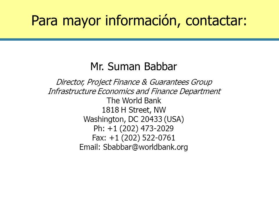 Para mayor información, contactar: