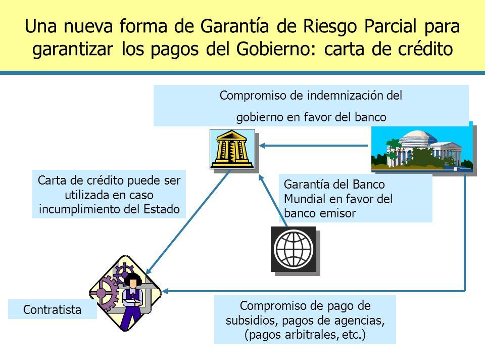Una nueva forma de Garantía de Riesgo Parcial para garantizar los pagos del Gobierno: carta de crédito