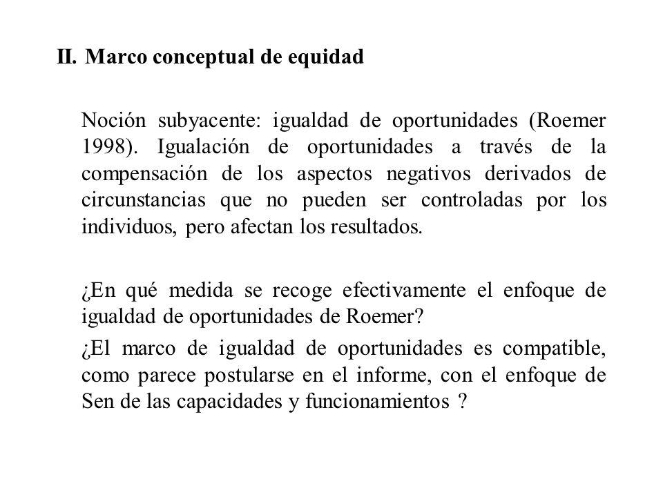 II. Marco conceptual de equidad
