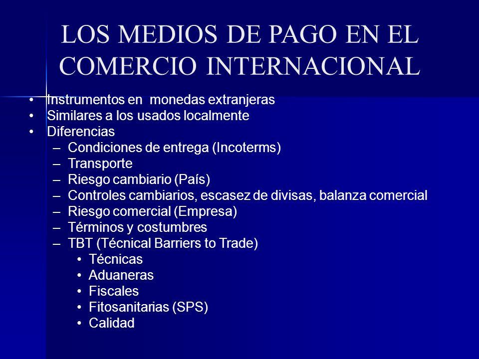 LOS MEDIOS DE PAGO EN EL COMERCIO INTERNACIONAL