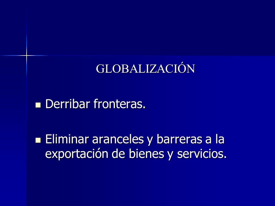 GLOBALIZACIÓN Derribar fronteras.
