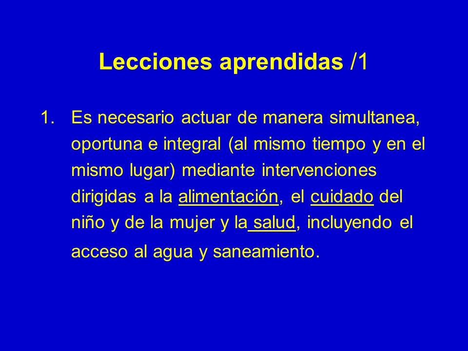 Lecciones aprendidas /1