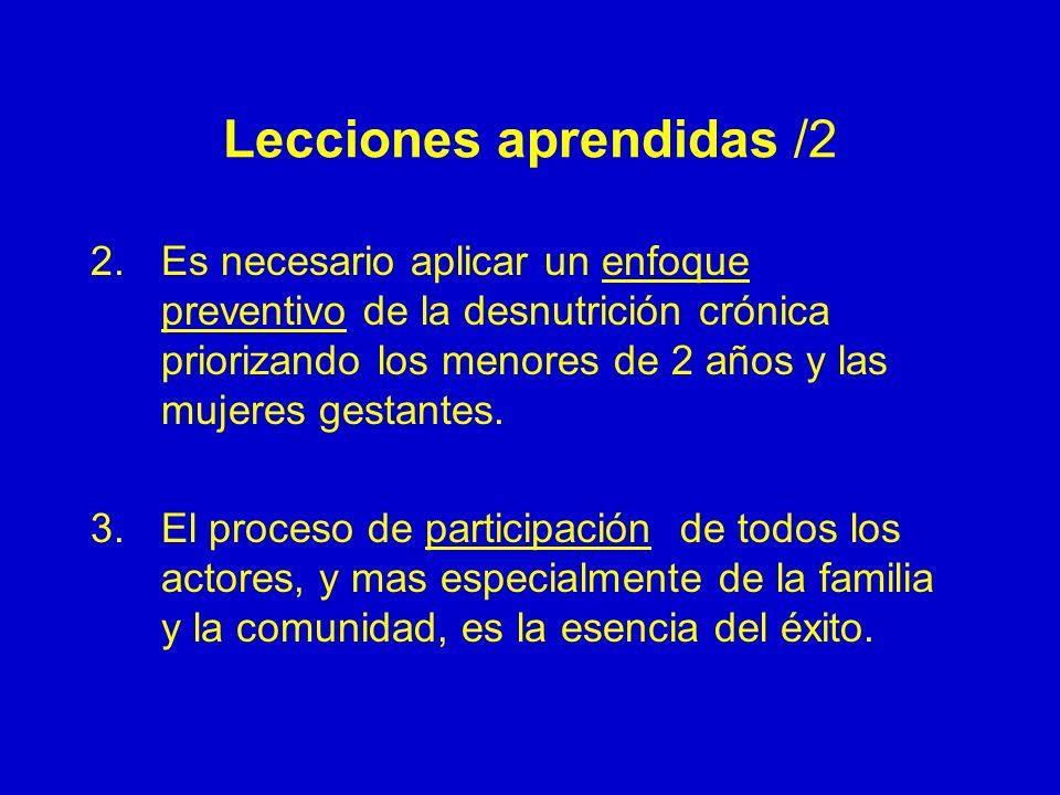 Lecciones aprendidas /2