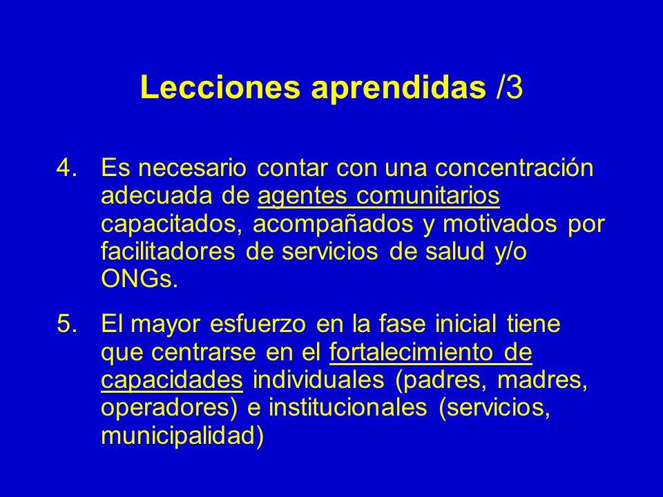 Lecciones aprendidas /3