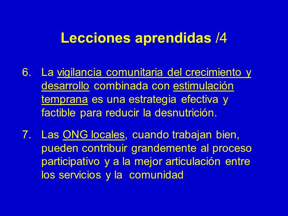 Lecciones aprendidas /4