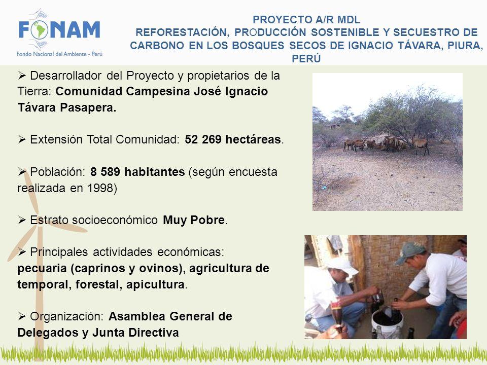 Extensión Total Comunidad: 52 269 hectáreas.