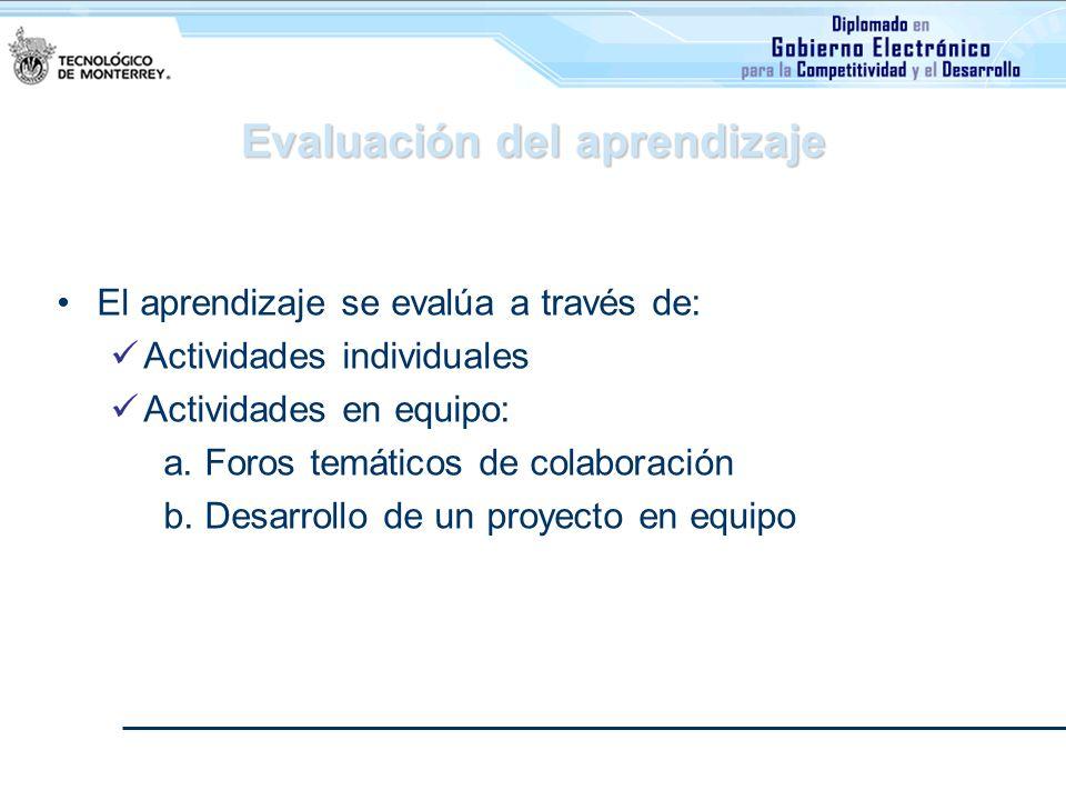 Evaluación del aprendizaje