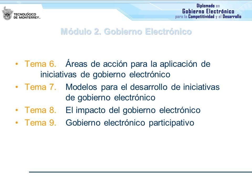Módulo 2. Gobierno Electrónico
