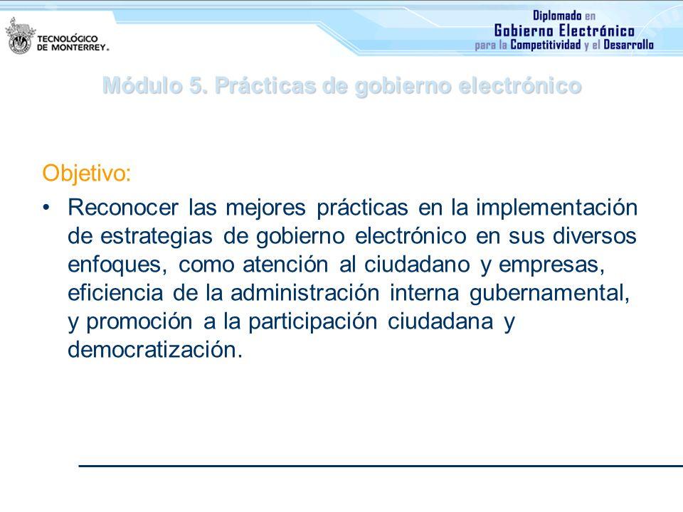 Módulo 5. Prácticas de gobierno electrónico