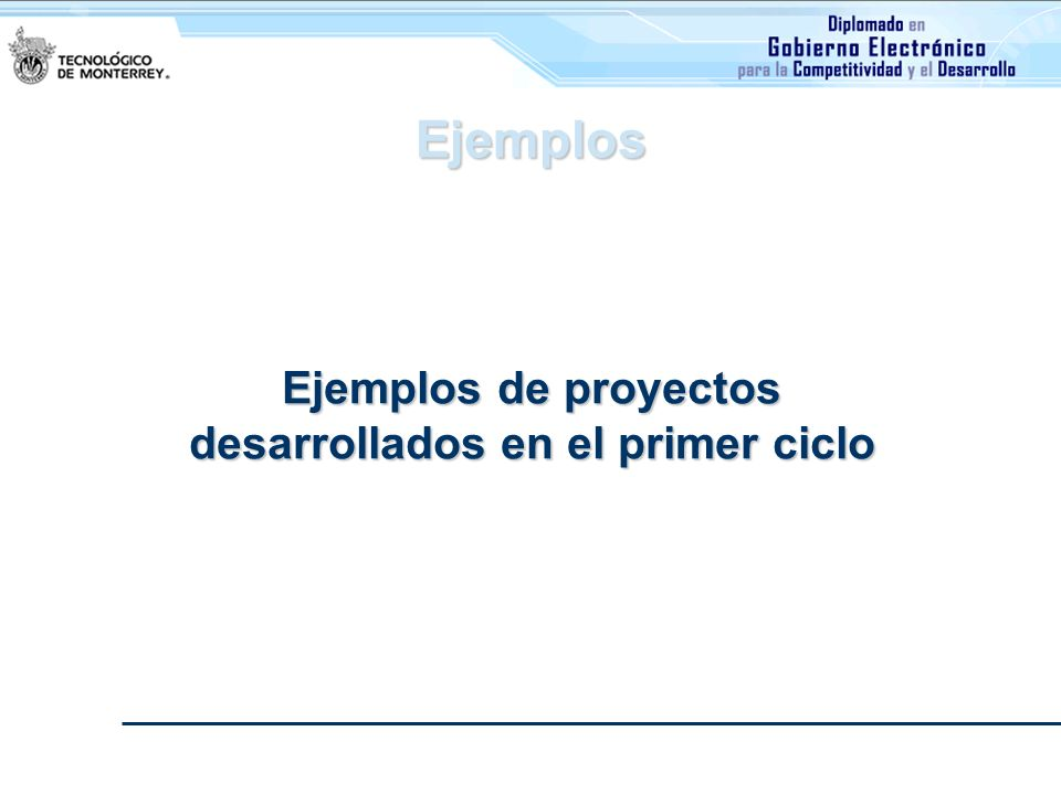Ejemplos de proyectos desarrollados en el primer ciclo