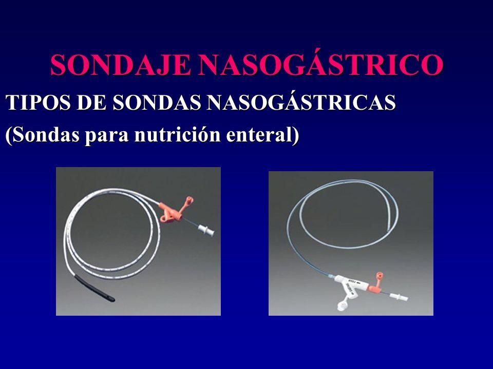 SONDAJE NASOGÁSTRICO TIPOS DE SONDAS NASOGÁSTRICAS