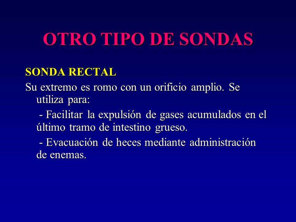 OTRO TIPO DE SONDAS SONDA RECTAL