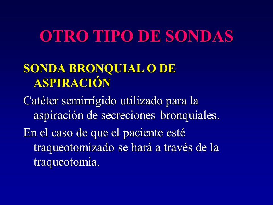 OTRO TIPO DE SONDAS SONDA BRONQUIAL O DE ASPIRACIÓN