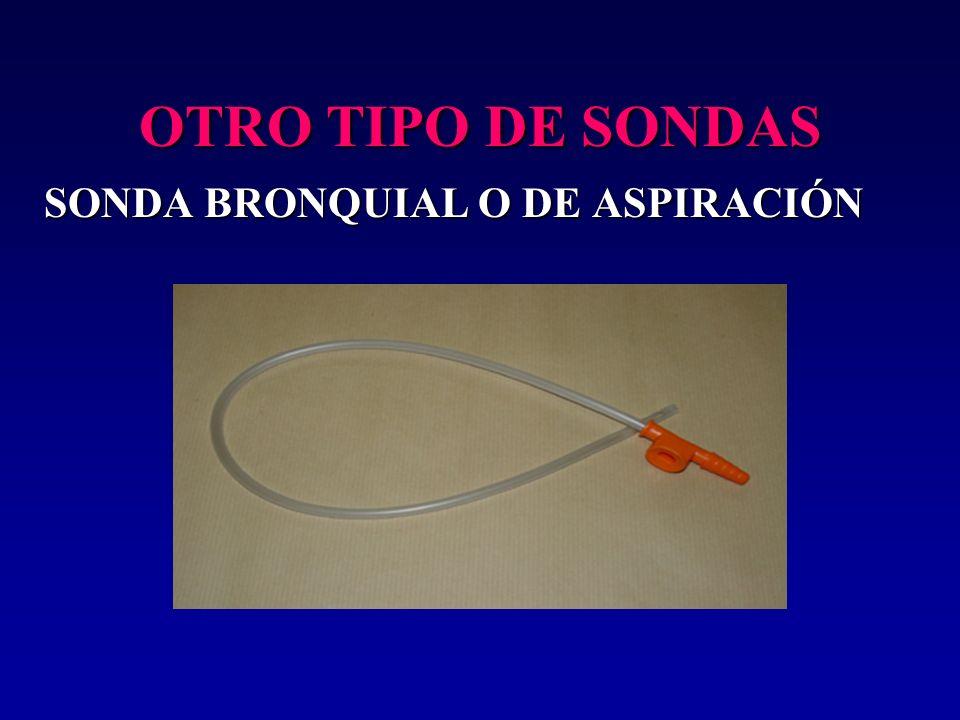 OTRO TIPO DE SONDAS SONDA BRONQUIAL O DE ASPIRACIÓN 19