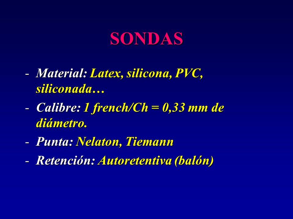 SONDAS Material: Latex, silicona, PVC, siliconada…