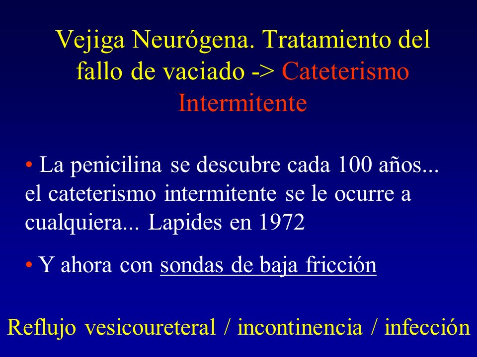 Reflujo vesicoureteral / incontinencia / infección
